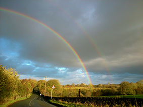 Double rainbow (Photograph by Prof J.C.Roberts)
