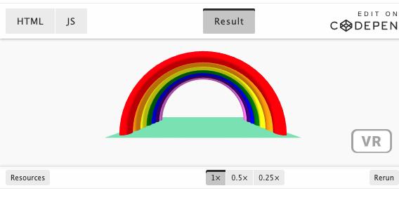 VR rainbow