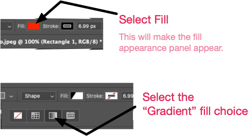 Select the gradient fill.