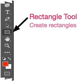 Photoshop menu, create a rectangle.