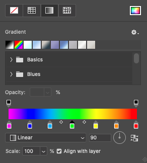Select the colours to the Gradient fill.