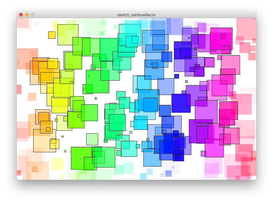 Rainbow rectangles, which are plotted differently inside a defined region.