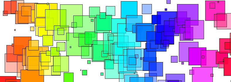 Hue Saturation Value, coloured squares