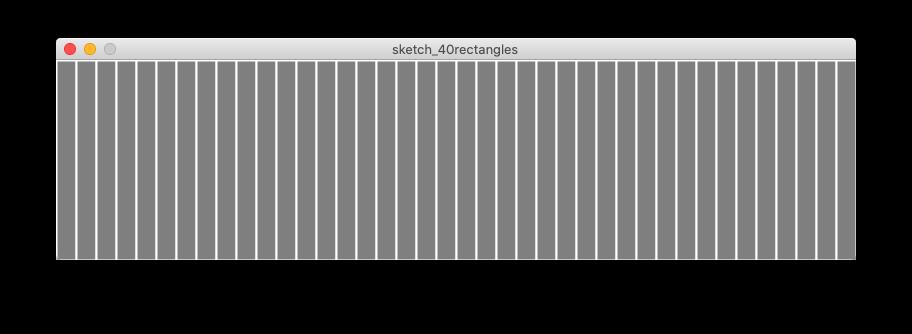 40 grey rectangles across the window
