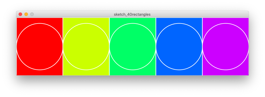 5 coloured rectangles
