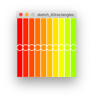 Coloured rectangles, with changed screen size